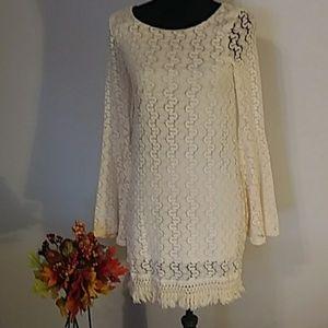 Nordstrom rack Love,Fire lace knit shift dress